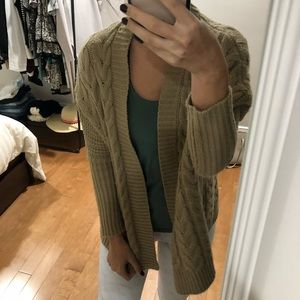 Forever 21 tan knit cardigan